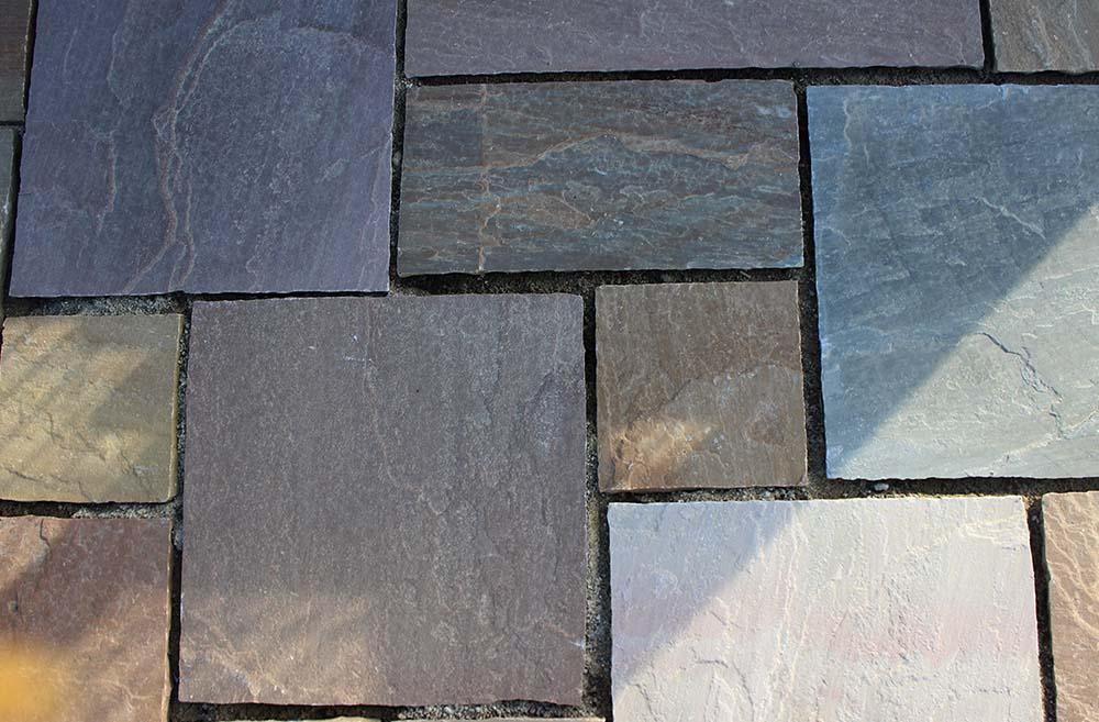 réalisation stones partner dallage grès gris multicolores
