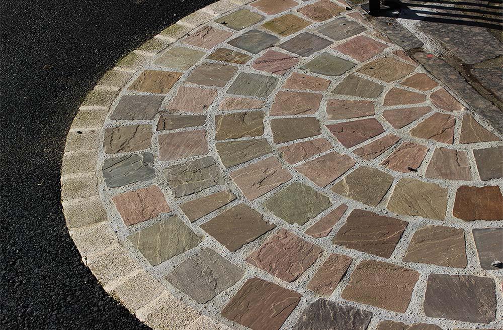 réalisation stones partner pavés grès multicolores
